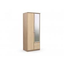 Шкаф 2-х створчатый с 2 ящиками «Карина» с зеркалом (900*615*2300) (ЭКО)