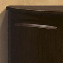 Гнутый фасад МДФ с фрезеровкой