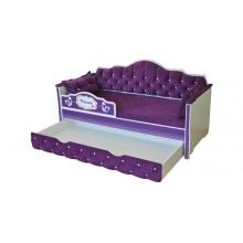 Мягкие детские кровати для мальчиков и девочек серии ИЛЛЮЗИЯ с дополнительным спальным местом