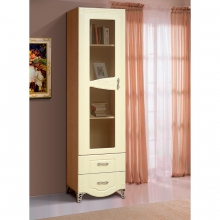 Шкаф-витрина для посуды 1 дв. Аврора-15(522*2128*440)(ВМК)