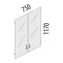 Двери стеклянные 3 секции Альфа 63.38