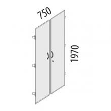 Двери ЛДСП на 5 секций с замком Альфа 63.58