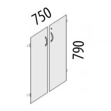 Двери ЛДСП на 2 секции с замком Альфа 63.59