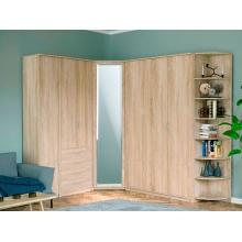 Шкаф угловой «Дуэт Люкс» с зеркалом (866*866*2300) (ЭКО)