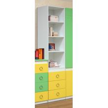 """Шкаф многоцелевой ( 3 ящика)  Модуль №1 (зелено/желтый.) Из набора детской мебели """"Горка 3Д"""""""