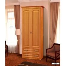 Гармония-4 Шкаф 2х дверный с ящиками для платья