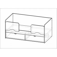 """Кровать """"Соня"""" (1832*750*850)МГ ФРС"""