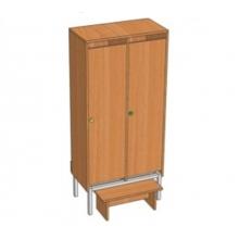 Шкаф 2-местный металлокаркасный Ш.ДТ.2(м) (648*330*1400)