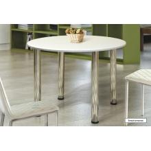 Стол обеденный круглый на металлических опорах