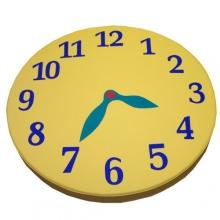 Мат круглый  «Часы»(набор: цифры, стрелки)