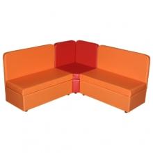 «Теремок»  комплект мягкой угловой мебели - (3+1+3)