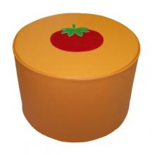 «Пуфик с аппликацией» 0,06м3 (размеры на выбор)