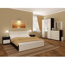 "Спальный гарнитур ""Афина"" МДФ кровать 1,4 м. шкаф 3-х створчатый"