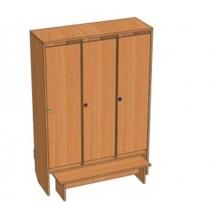 Шкаф 3-местный Ш.ДТ.3 ( 964*330*1400)