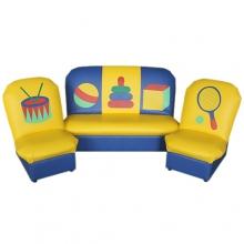 «Аппликация» комплект детской мягкой мебели