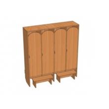 Шкаф 4-местный Ш.ДТ.4.1 (1280*330*1400)