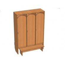 Шкаф 3-местный Ш.ДТ.3.1 (964*330*1400)
