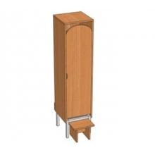 Шкаф 1-местный металлокаркасный Ш .ДТ.1.1 (м)  (332*330*1400)