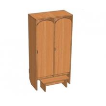 Шкаф 2-местный Ш.ДТ.2.1 (648*330*1400)