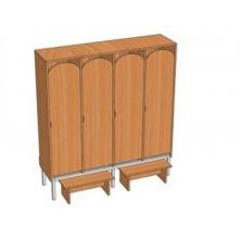 Шкаф 4-местный металлокаркасный Ш.ДТ.4.1 (м) (1280*330*1400)