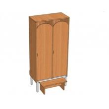 Шкаф 2-местный металлокаркасный Ш.ДТ.2.1 (м)  (648*330*1400)