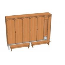 Шкаф 6-местный металлокаркасный Ш.ДТ.6.1 (м) (1912*330*1400)