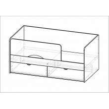 Кровать Бабочки  (1832*750*850)МГ ФРС