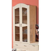 Шкаф для книг  Аврора-15 двухдверный с ящиком (920*2128*440)ВМК