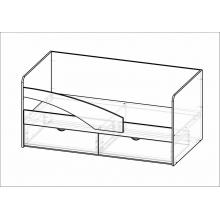 Кровать Дельфин(1832*750*850)МГ ФРС