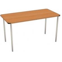 Стол прямоугольный на цельном металлическом каркасе  С.ДТ.2 ( размеры стола 1000*500 )