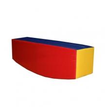 Мягкий модуль-тренажер «Балансир»  (полукруглый брус) 4кг 0,144м3