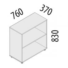 Шкаф офисный 2 секции Альфа 61.41