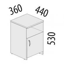 Тумба офисная с дверью Альфа 62.44