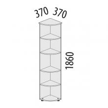 Стеллаж офисный угловой Рубин 42.35