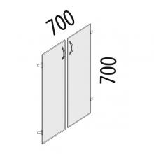 Двери ЛДСП 2 секции Рубин 42.37