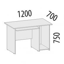 Стол компьютерный левый/правый Рубин 42.49