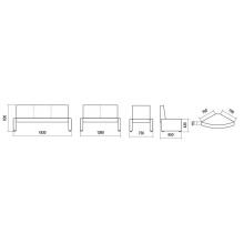 """Угловой сегмент """"Сенека"""" ( дополнительный элемент для диванов """"СЕНЕКА"""")"""