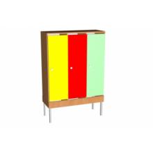 Шкаф для одежды на мет. опорах (мет.сетка под обувь)  3 м