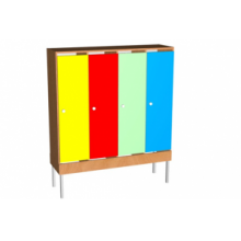 Шкаф для одежды на мет. опорах (мет.сетка под обувь)  4 м