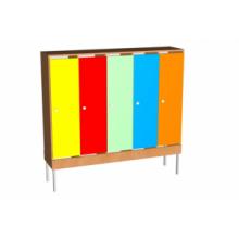 Шкаф для одежды на мет. опорах (мет.сетка под обувь)  5 м