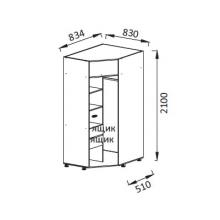 Юниор-6 ПМ-8 Шкаф для детского платья и белья угловой ЛДСП(510*2100*830)
