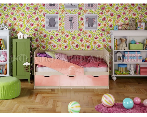 Кровать Бабочки мет. 1800(1836*850*800)МГ МИФ